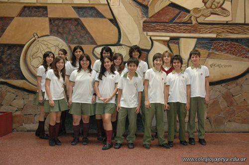 Alumnos de 1er año de la Secundaria con Excelencia Académica