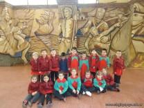 Salas de 3 y 4 visitaron el Mural 1