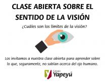 Clase abierta sobre el sentido de la visión